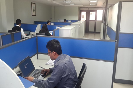 office working